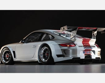Porsche 911 Racing Car Print Poster or Canvas