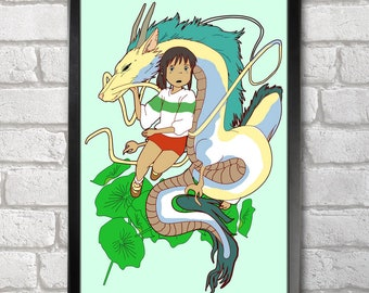 Spirited Away print + 3 for 2 offer! size A3+  33 x 48 cm;  13 x 19 in