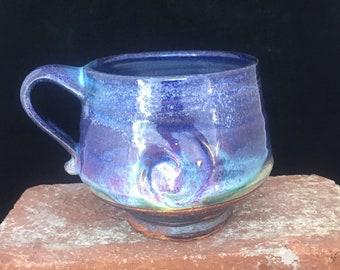 Mug-005-Free Shipping -Blue Mug-Handmade Coffee Mug/Cup