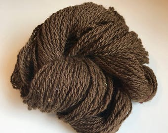 Handspun 2-ply yarn ~ 100% wool from home-raised Finn/Shetland cross Sheep