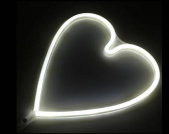 Cordless Heart LED White Light