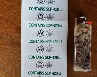 SCP-420-J Labels
