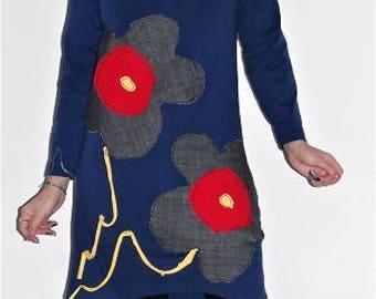 Blue Midi Dress Tail Daisy