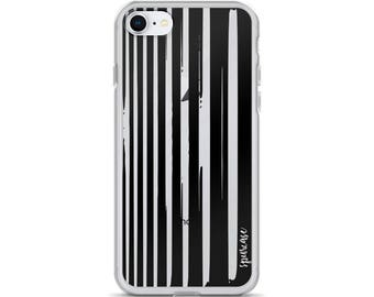 Vertical Black Lines - iPhone Case