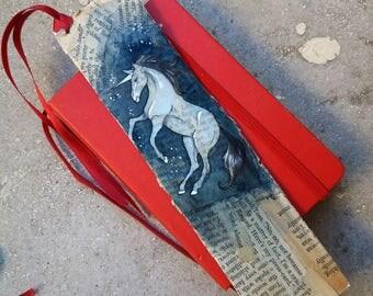 Moonlight unicorn bookmark