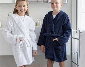 Personalised Girls/Boys Dressing Gowns, Personalized Kids Robes, Teens Bathrobes, Personalised Bathrobe for Girls/Boys  3-13 years