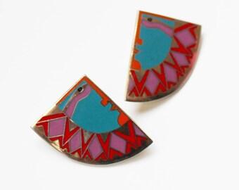 Vintage Laurel Burch Clip Earrings