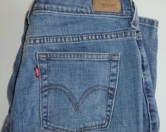 Vintage Levi's 505 Straight Leg size 8 S/C women's 30x29 jeans   #11