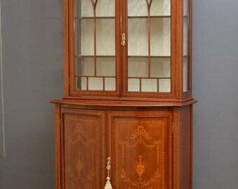 SN4217 Edwardian mahogany china cabinet,