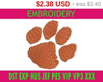 SALE 30% Clemson Tigers embroidery / embroidery designs logo / Sports logo embroidery design / American football