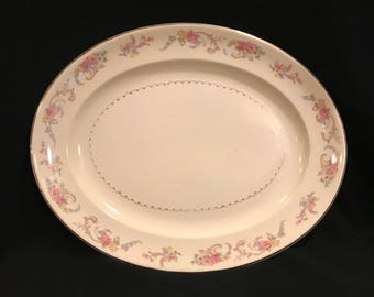 """Paden City Pottery Duchess 151/2"""" platter"""