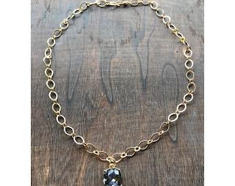 Dark Grey Pendant Necklace
