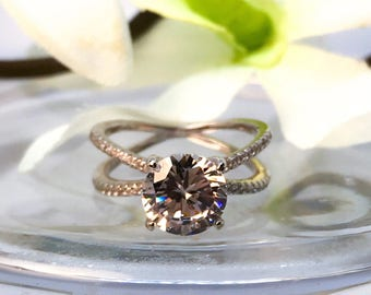 5 Carat Cubic Zirconia Engagement Wedding Ring