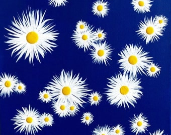 Crazy Daisies - a cheerful contemporary acrylic painting