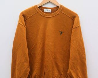 POLO CLUB Small Logo Brown Vintage Sweater Sweatshirt Size L