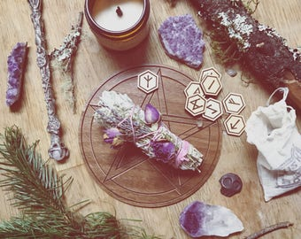 Wood Rune Stones