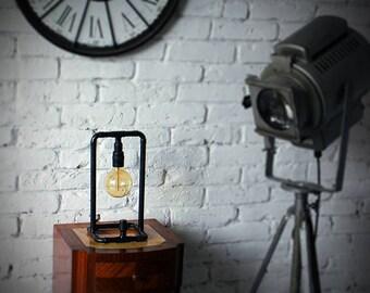 Copper pipe table lamp. Original design. To the loft.