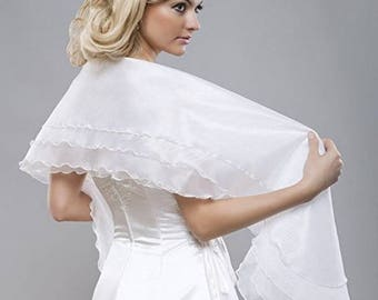 Bridal stole/Schal from organza white one size