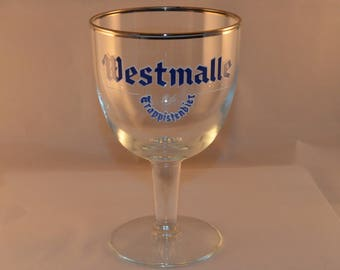8 glasses, Trappist Beer Westmalle Glass Vintage Style
