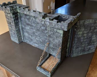 Dungeon Master Screen with Dice Towers