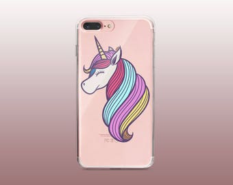 Unicorn Clear TPU Phone Case for iPhone 8- iPhone 8 Plus - iPhone X - iPhone 7 Plus-iPhone 7-iPhone 6-iPhone 6S-Samsung S8