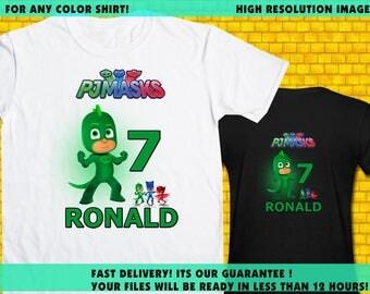 PJ Masks / Iron On Transfer / PJ Masks Birthday Shirt Transfer DIY / High Resolution / For Any Color T Shirt / 12 Hours Turnaround Time