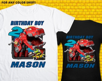 Dinotrux / Iron On Transfer / Boy Birthday Shirt Design / DIY Shirt / High Resolution / For Any Color T Shirt / 12 Hours Turnaround Time
