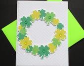 St. Patrick's Day Card, Irish Card,Shamrock Card, Handmade Greeting Card, Holiday Card, Spread Kindness, Share Kindness, Blank Greeting Card