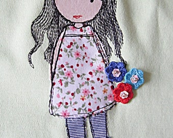 Girl Petra applique