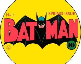 "1st issue 1970's batman badge 1"" inch"