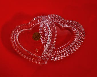 Jewelry box / box from CRISTAL D'ARQUES France heart shape