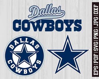 Dallas Cowboys SVG Files, Dallas Cowboys Logos, Football Logos, Football Die Cut SVG, Cutting Machine Files, Decal Vinyl * SVG7