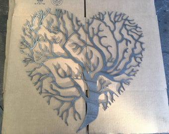 Heart shaped tree of life