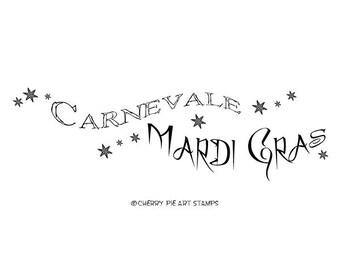 Mardi Gras, Carnival - Carnevale, Masquerade- CLiNG RuBBer STAMP L357