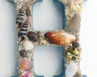 Letters/ Seashells Letters/ Beach Letters/ Decoration With Sea Letters/ Shell Decoration/ Shells And Beach/ Letter For Teenage/ Coastal Home