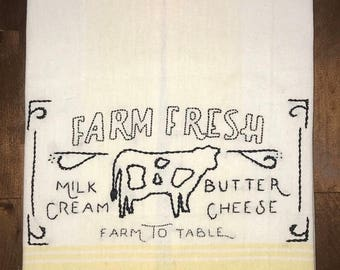 Farm Fresh Tea Towel