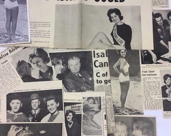 1962 Isabel Gould Outdoors Girl of Canada Photo and Newspaper Clippings Collection Diefenbaker Renfrew