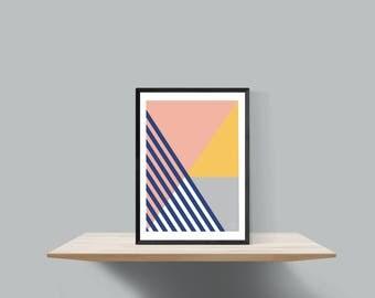 Bold geometric scandinavian inspired print , Untitled #6
