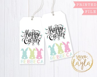 Easter tags easter tags printable easter tag pdf easter easter gift bag tags easter tags printable easter gifts easter gift tags negle Gallery