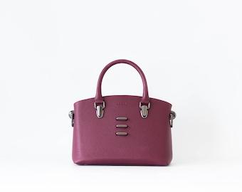 Dear - Structured Handbag -  Color Dark Maroon