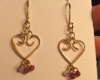Handmade valentine's earrings