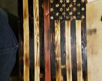 24x13 rustic flag made to order