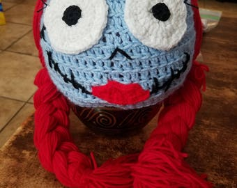 Nightmare before Christmas inspired Sally Beanie