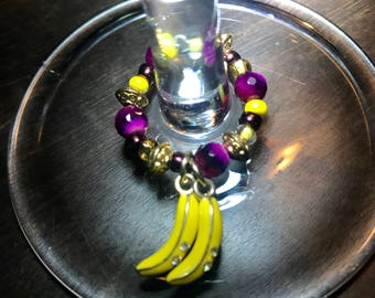 Bananas Wine Charm