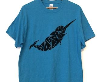 Blue Narwhal Shirt