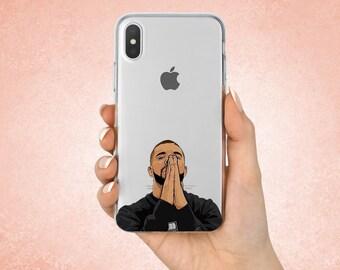 Drake iphone case Drake Gifts Iphone 7 case Hip-Hop case Iphone 8 Drake praying Samsung S8 Plus case Galaxy A7 case Google Pixel 2 XL cover