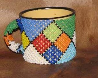 Handcrafted African Beaded Mug