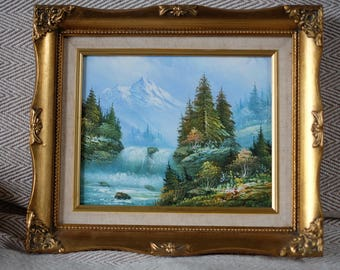 Oil on Canvas landscape painting by W. Chapman