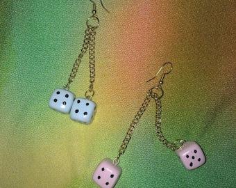Customizable Dice Earrings