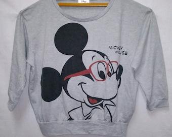 Vintage Cartoon Mickey Mouse Disney Sweatshirts Large